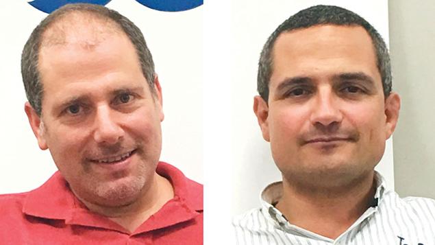 Innitel founders Dan Leubitz, left, and Elie Rubin. Mr. Leubitz made aliyah from Teaneck. (Innitel)