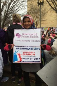 Queens chapter co-leader Rokeya Akhter marched in the recent Women's March on Washington. Courtesy of Rokeya Akhter.