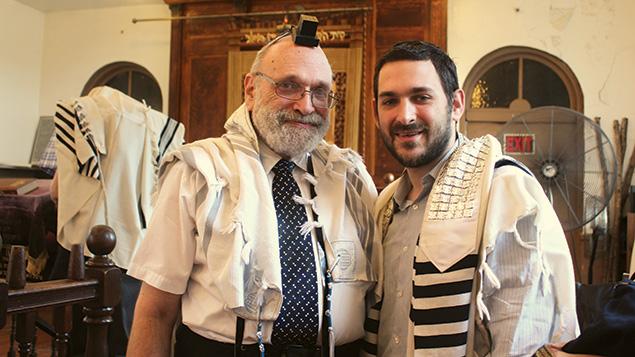 Rabbi Alvin, left, and Rabbi Sam Reinstein at the recent bris of Sam Reinstein's son, Leon. (Sam Reinstein)