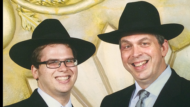 Rabbi Yaakov Taubes, left, and his father, Rabbi Michael Taubes.