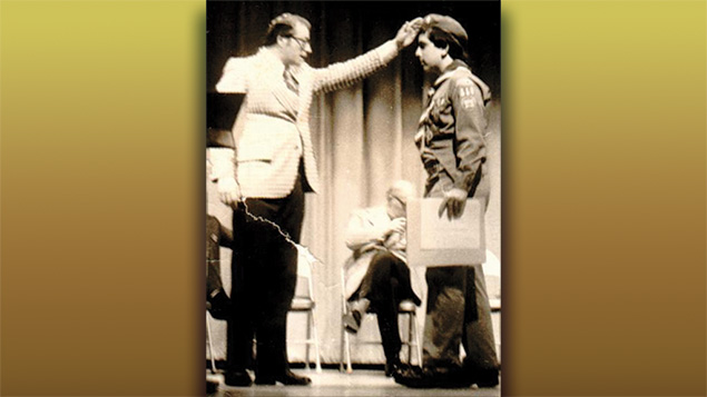 As he was made an Eagle Scout at his Court of Honor at his shul in 1976, Rabbi Prouser's rabbi, Asher Bar-Zev, addressed him in Hebrew.