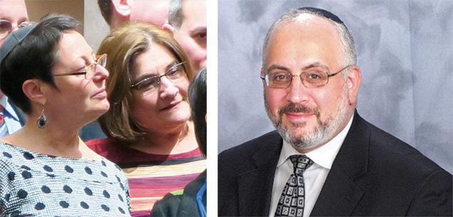 Rabbi Shelley Kniaz, left, Rabbi Lori Forman-Jacobi, and Rabbi Joseph Prouser.
