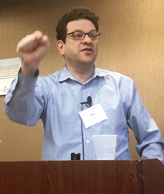 Rabbi Shai Held speaks at Limmud NY, held in Princeton in February.