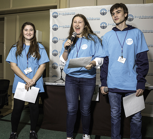 From left, teen council members Briana Gotian, Elizabeth Maline, and Zachary Zimmer.