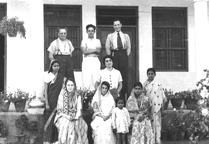 Four Eastern European sisters and their families in India.