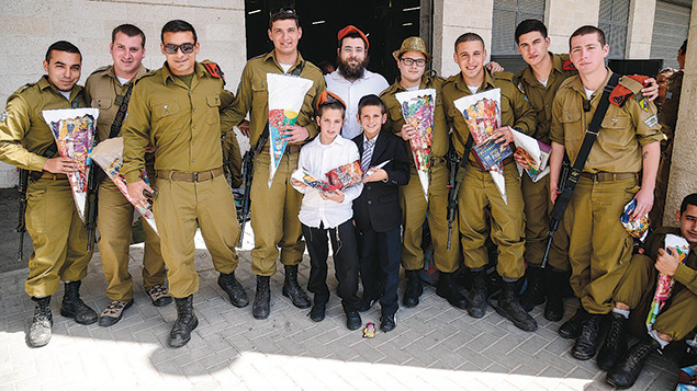Mishloach manot packages received by IDF soldiers.