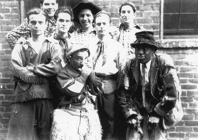 Mr. Feinberg, top right, with some other Rascals.
