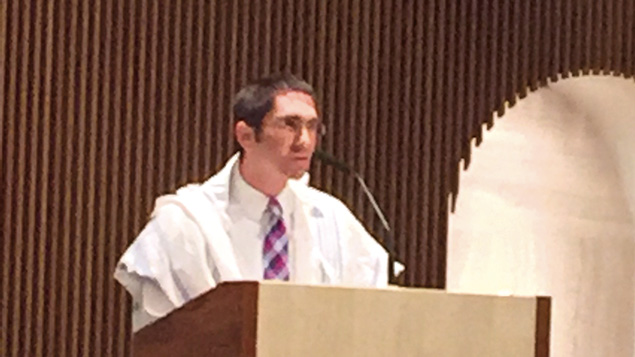 Rabbi Paul Jacobson speaks during mass at St. Peter's Church in River Edge.