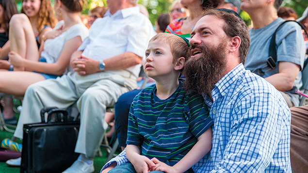 """The audience enjoys the music at last year's """"Yiddish Soul"""" concert in Central Park."""