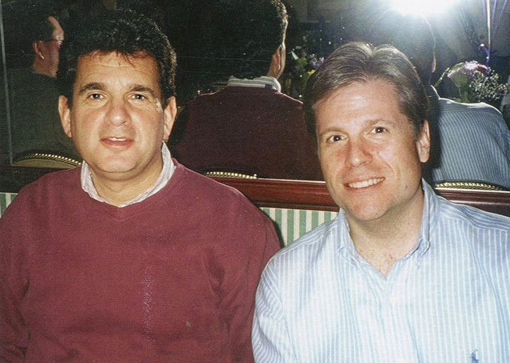 Rabbi Emert with his partner, Travis Lash.