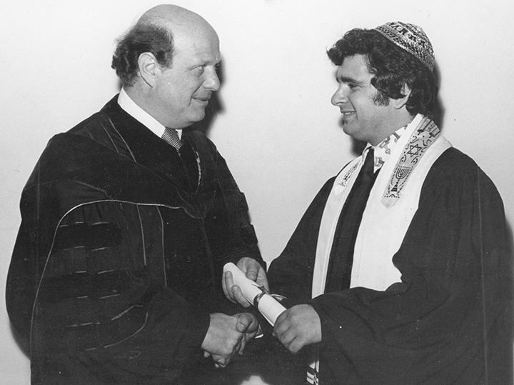 Dr. Alfred Gottschalk ordained Rabbi Emert.