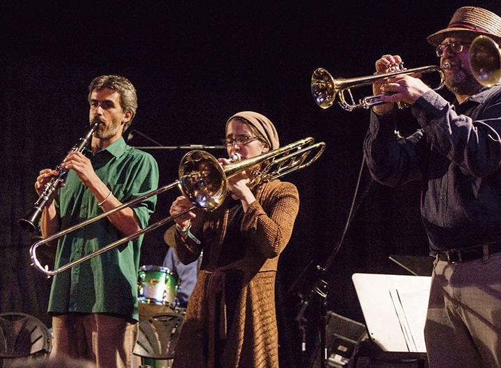 Performing with the faculty band at KlezKanada, 2015
