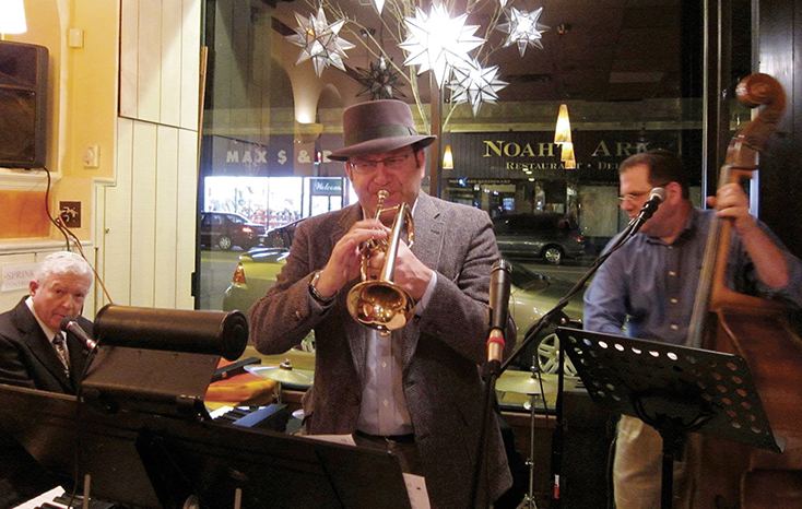 Playing with Pete Sokolow and the Creole Curmudgeons at Smokey Joe's