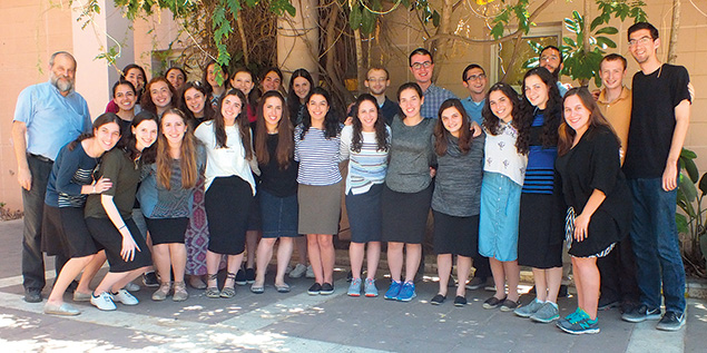 The whole group of 2017 Summer Science Research Interns at Bar-Ilan University, with the program director, Dr. Ari Zivotofsky, on the far left.