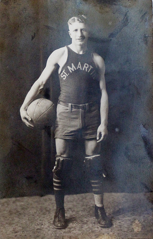 Morris Abramowitz played basketball for the NYPD league; his team was St. Martin's.
