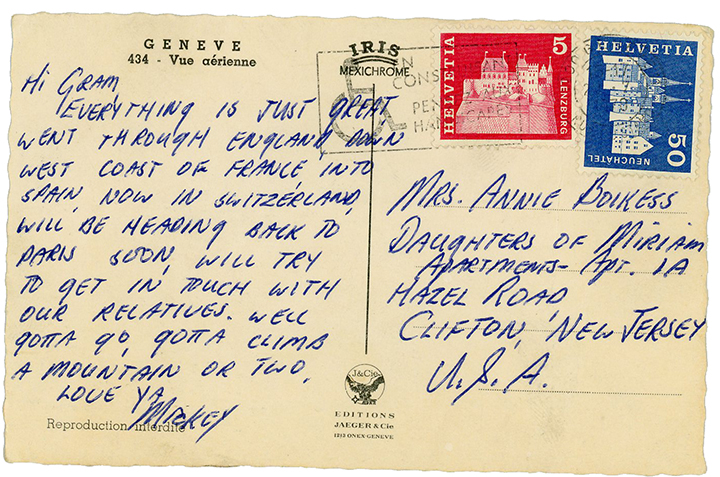 """A postcard home to """"Gram."""""""