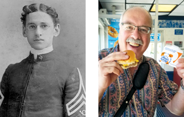 Capt. Dr. Cyril Barnert, Sr. (1883-1930), and his grandson, Bill Barnert. (JHNJ/Bill  barnet)