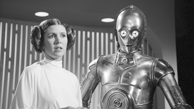 "Carrie Fisher as Princess Leia in ""Star Wars"" in a photo from August 23, 1978. (CBS via Getty Images)"