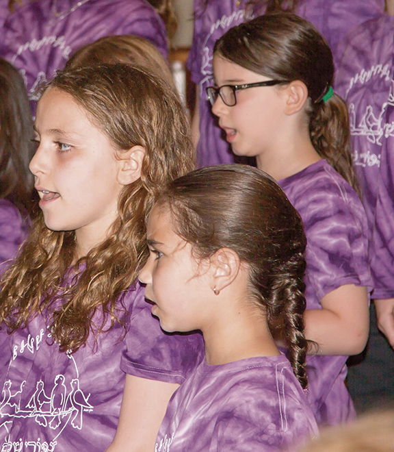 The girls are part of Tzipporei Shalom at Congregation Beth Sholom in Teaneck.