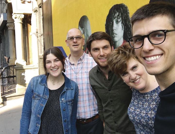 The Teplow family, from left, Tamara, Josh, Joe, Rebecca, and Avery.