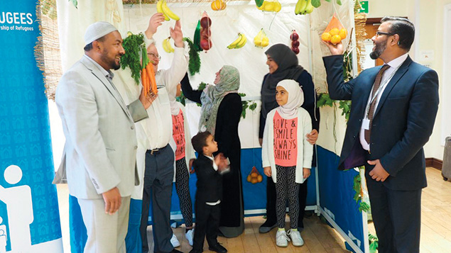 """In London, Jews built a sukkah inside a mosque as part of an initiative to help Syrian refugees Jewish, Christian, Muslim, and secular groups launched a program to help settle Syrian refugees by building a sukkah inside the East London Mosque in the city's Whitechapel neighborhood. """"Sukkot is the festival when Jews live in temporary booths and are reminded of the frailty of their existence,"""" Rabbi Danny Rich, who heads the country's Liberal Judaism movement, said at the initiative's launch on Monday, according to the Docklands & East London Advertiser. """"I expect Jews to be particularly sympathetic to those fleeing persecution and disruption with their historical experience."""""""