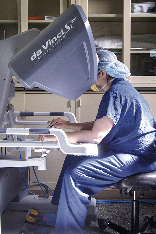 Dr. Lewin performs robotic surgery, a minimally invasive procedure that leads to a shorter recovery time, less discomfort, and a reduced risk of scar tissue formation.